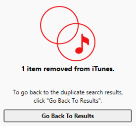 one song track has been removed de-duped