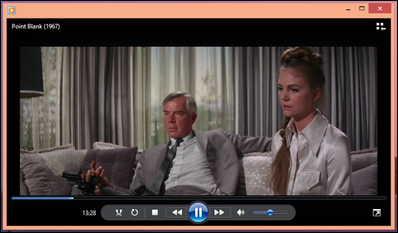 watching Point Blank in Windows Media Player wmp