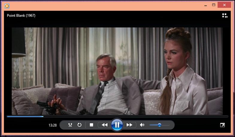 watching Point Blank in Windows Media Player wmp