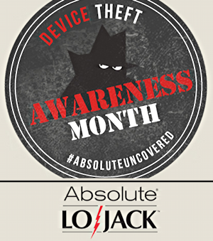 device theft awareness month, absolute lojack