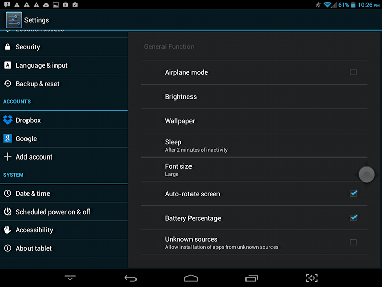 all the settings fit to tweak in android 4.4 jellybean