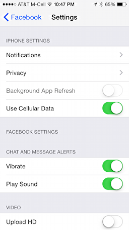 facebook privacy settings on iphone 5, ios 8, ios 7, ipad retina