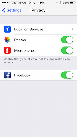 how to disable microphone in facebook ios iphone ipad app