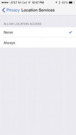 location services privacy facebook app