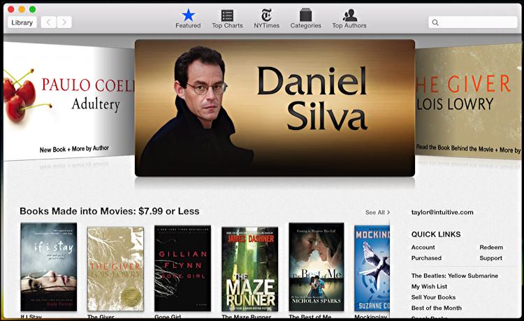 apple mac os x ios ipad ibooks store