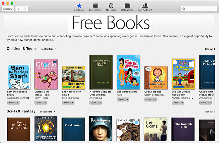 free books for your ibooks ebook reader from apple