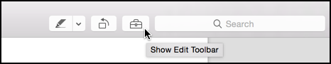 show edit toolbar option in pdf preview reader app