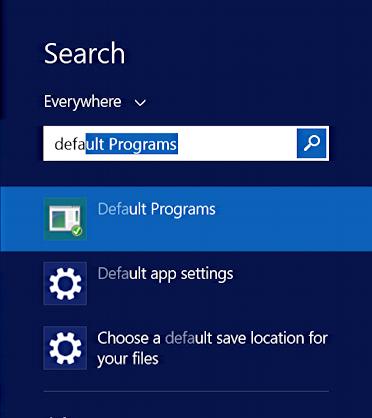 How do I set the default Web browser in Windows 8?