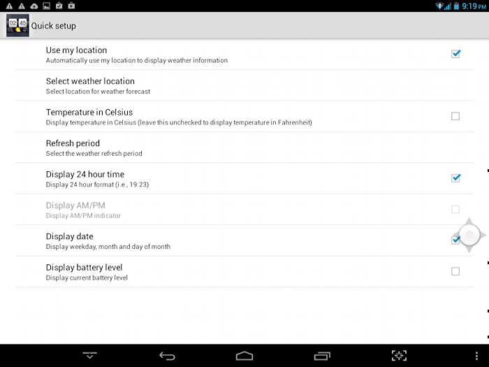 How do I set location in the Android Weather widget? - Ask