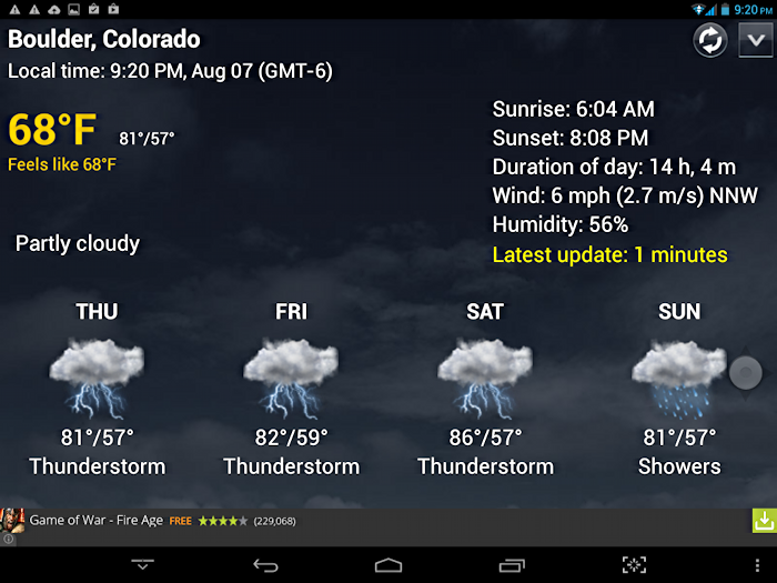 early august weather forecast, boulder colorado