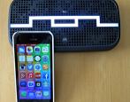 Deck speaker, iPhone.