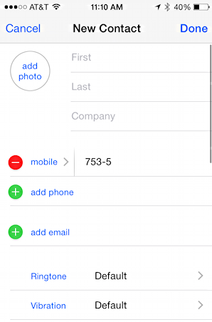 add contact for robot text messages apple iphone 5s