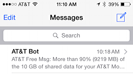 auto sms text messages by name, not number