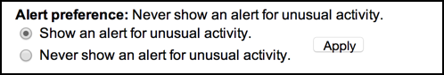 track alert flag suspicious gmail activity