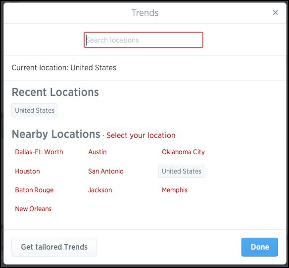 twitter trends trending now location geolocation region