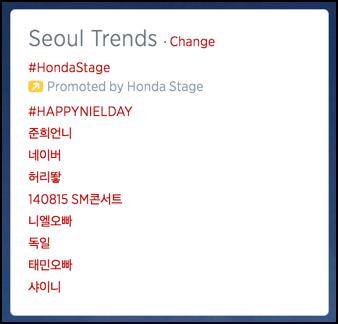 twitter trends seoul korea