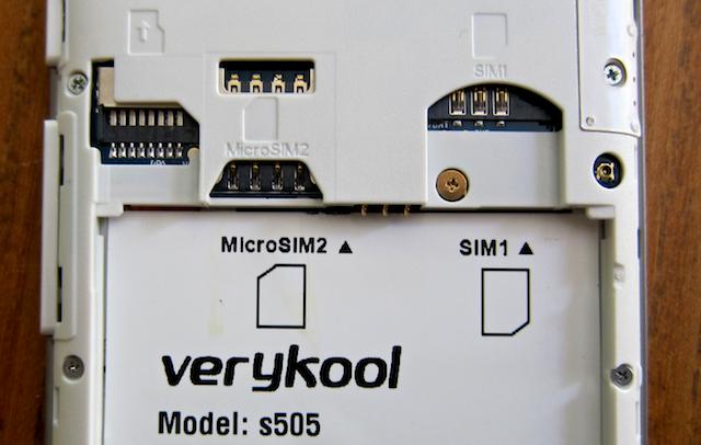 infosonics s505 - two sim cards