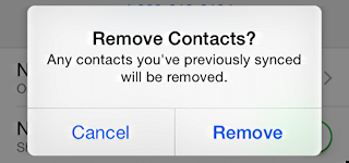 how to remove contacts