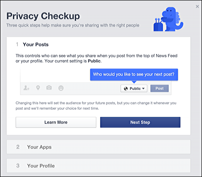 fb full privacy checkup screen