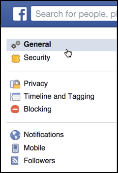 options for your facebook settings