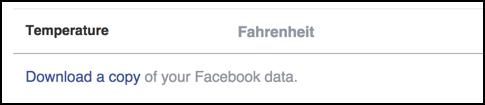 export your facebook data link
