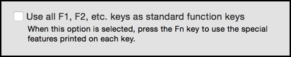 use function keys with their default meaning setting fix repair restore reset mac os x