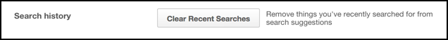 clear recent searches pinterest