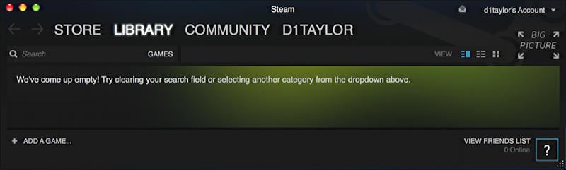 no games in my steam account, so sad