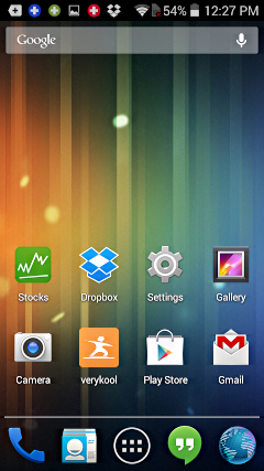 android app icon added to home screen, verykool sl5000 android droid phone