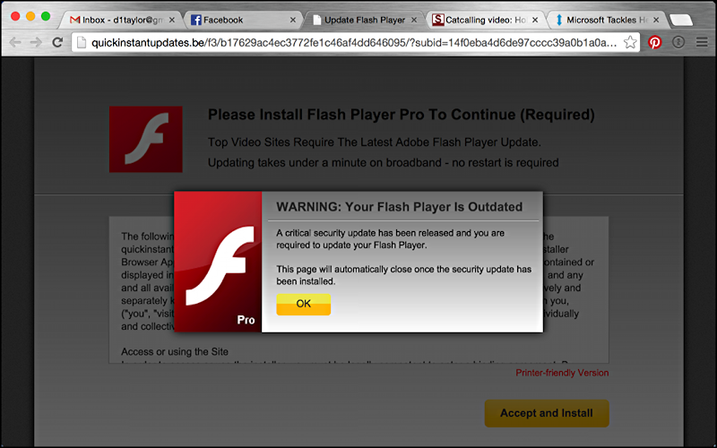 Is a web sites adobe flash update message legit ask dave taylor time for me to update my adobe flash player or is it stopboris Image collections