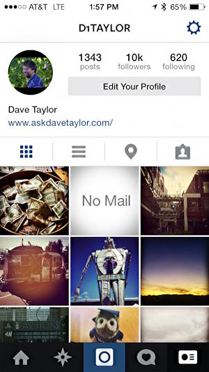 how do i change my instagram profile photo pic ask dave taylor. Black Bedroom Furniture Sets. Home Design Ideas