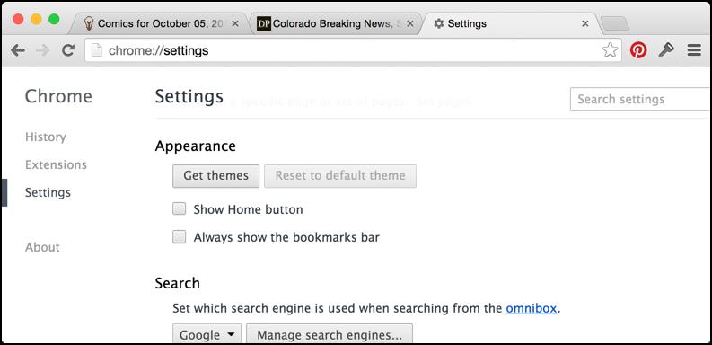 Image result for change Google Chrome theme