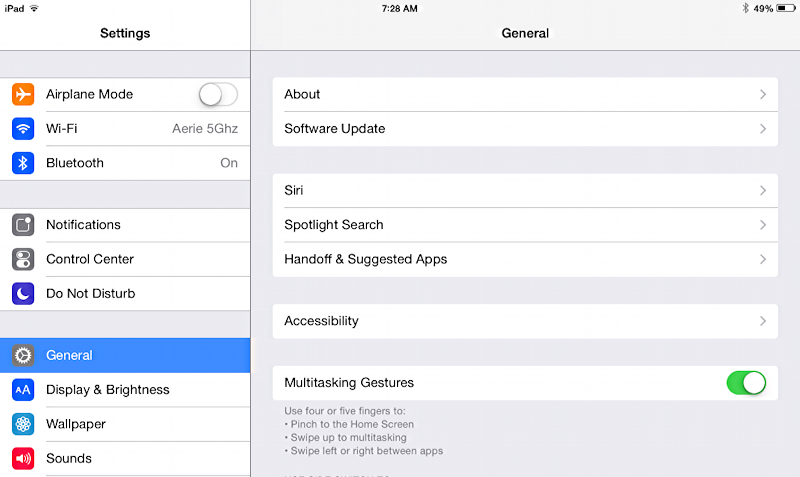 facetime preferences on ipad ios 8