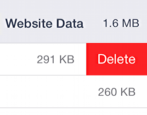 how to delete website data safari taking up space iphone ipad
