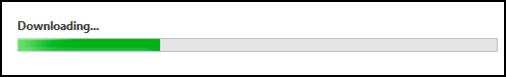 installing updates progress bar