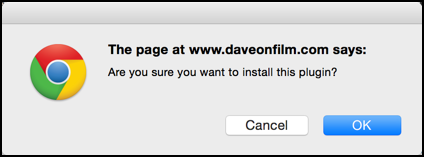 are you sure you want to install the plugin