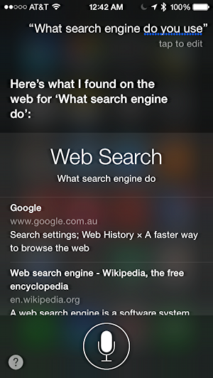 what search engine do you use, siri?
