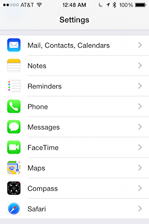iphone 6 settings ios8 ipad