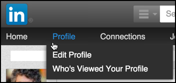 Choose your profile from the LinkedIn menu options