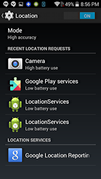 android apps that use the location feature
