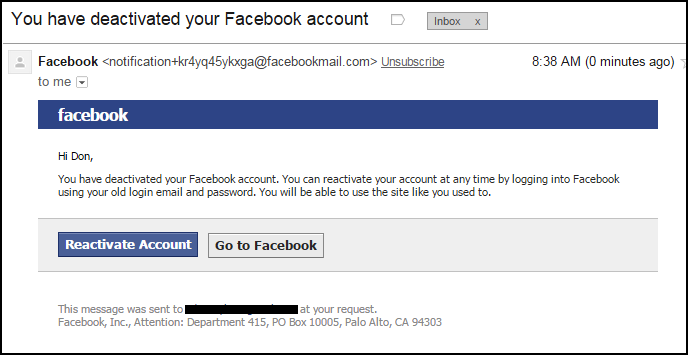 Facebook Wont Let Me Deactivate My Account