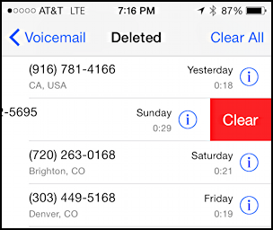 really delete erase voicemail message