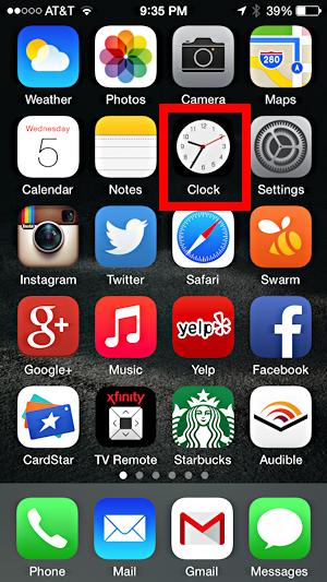 clock app apple ios 8 ios8 clock