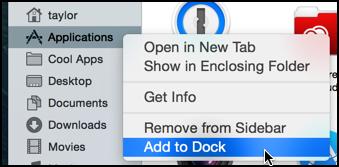 add finder folder to dock