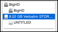 external usb flash drive 8gb 16gb erased and reformatted mac yosemite