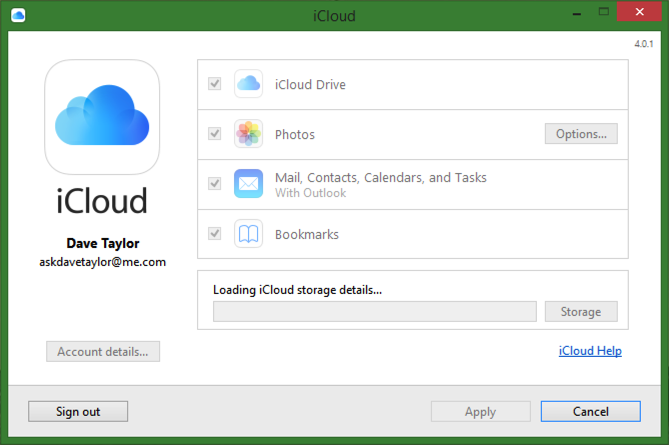 downloading icloud configuration data settings preferences