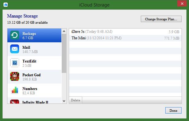 backup status icloud for windows mac mac os x
