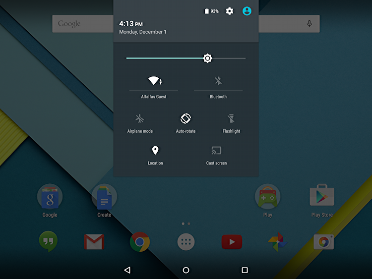 nexus 9 android 5.0 tablet now online wifi wi-fi