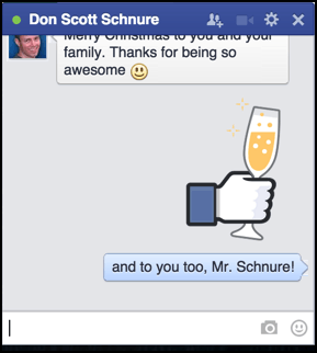 facebook chat with stickers