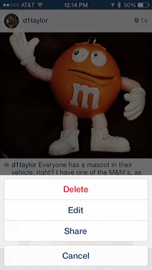 edit fix delete instagram post